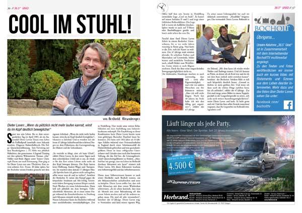 Dieter Laven: Cool im Stuhl