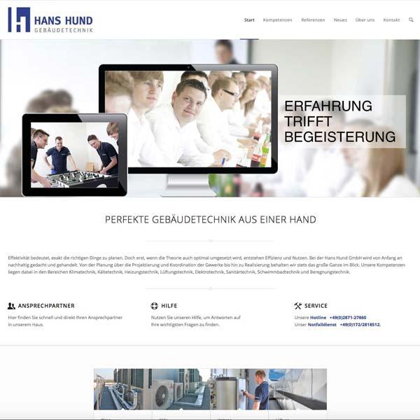 Hans Hund GmbH Webseite
