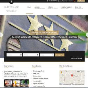 Webseite Hotel Kupferkanne