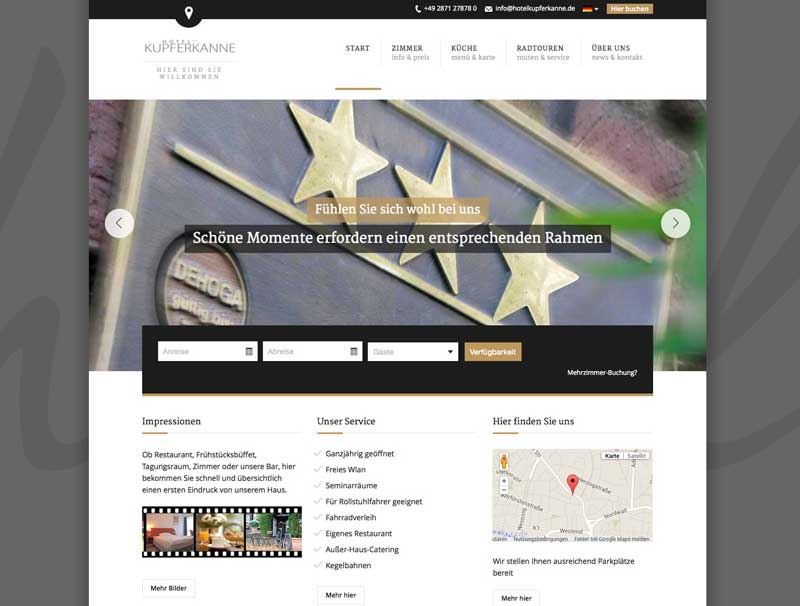 Hotel Kupferkanne Homepage
