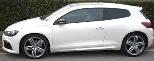 Dieser VW-Scirocco von Marcel Hüfing verschwand Anfang April. Per Facebook suchte er danach.