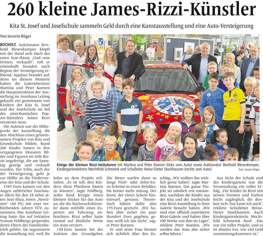 Moderation: 260 kleine James-Rizzi-Künster
