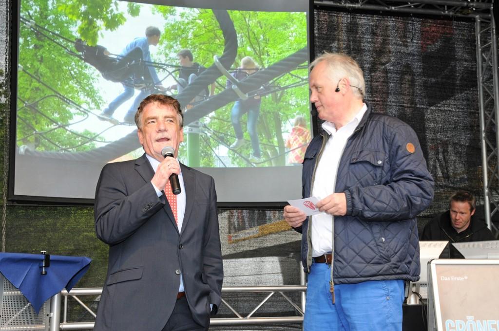 Moderation mit Minister Groschek