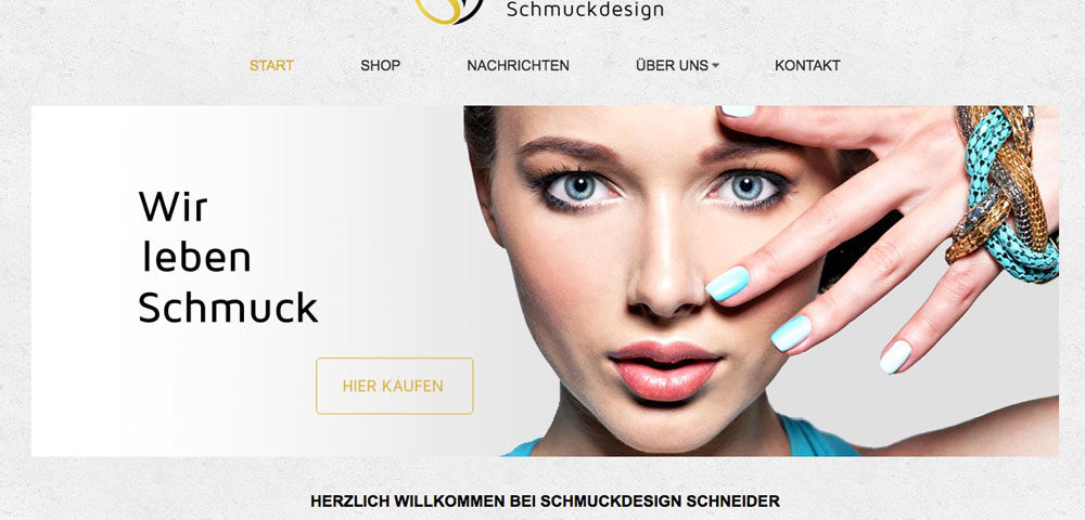 Schmuckdesign Schneider mit neuem Onlineshop